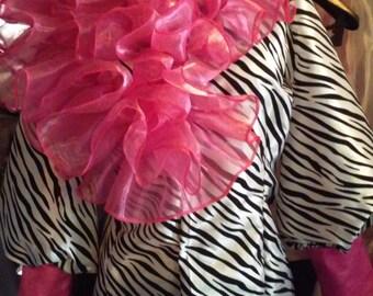 Zebra Pink Blouse
