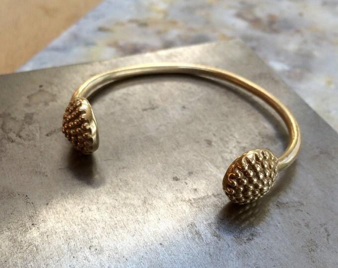 Globe Cuff Bracelet in Brass