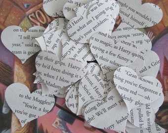 Harry Potter Party Confetti Hogwarts Muggles Magic Spells Dobby Snape Always 500 heart punches paper hearts