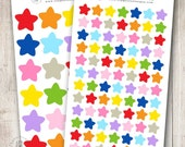 Rainbow Stars, Set of 24 or 84 - Perfect for Erin Condren, Limelife, Mambi and Plum Paper Planners