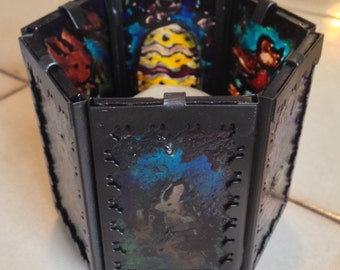 Gothic Art Candle holder Stained glass