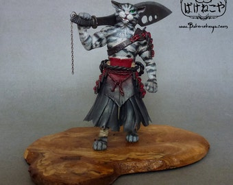Kenta – OOAK Warrior Cat sculpture