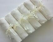 6 SET IVORY ( soft cream) PASHMINA Shawl. 6 Ivory Shawl. Bridesmaid gifts. Bridesmaid shawls. Pashmina Scarf. Wedding favor.