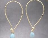 Drop hoop earrings with choice of gemstone Carnivale 1
