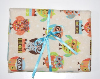 Extra Large Receiving/Swaddle Blanket - Modern Owl 37x42