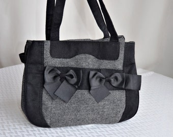Vintage Women Textile Handbag, ON SALE