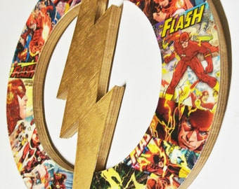 The Flash wall plaque (made to order)