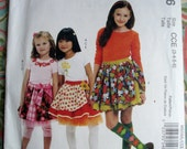 McCall's Girls' Skirts, Leggings And Appliques Pattern M6066 By Designer Jan Lutz, The Apron Lady - Size 3-4-5-6