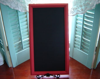 Framed chalkboard wall hanging kitchen beach home office menu board 10x18 inch painted coral frame wedding table decor