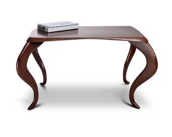 Coffee Table Mona. Classic Furniture. Ash. Vintage coffee table. Railis Design. Handmade furniture.