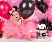 First Birthday Dress, Pink Mouse Tutu Dress, Toddler Party Dress