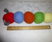 Easter - Baby Shower Gift - Hand Knit Caterpillar - Plush Toy