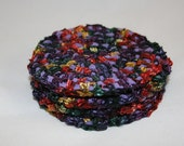 Coasters - crocheted and upcycled by Lynwoodcrafts