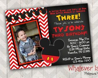 Mickey Mouse Birthday Printable Invitation