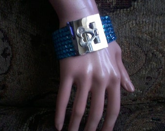 Turquoise Crystal Cuff Bracelet