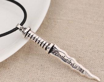 Rumpelstiltskin dark one dagger necklace inspired