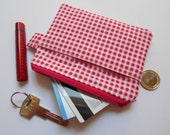 Red Zipper Pouch-Red Coin Purse