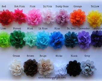 "Mini Hydrangea Puff Flowers - You choose the QUANTITY and COLORS from the list below! 1.75"" Flower Puffs - DIY Baby Headband Supplies"