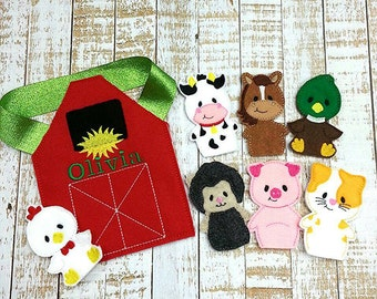 Farm puppets / finger puppets / felt toys/ quiet play
