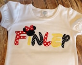 Girls custom embroidered Disney vacation personalized shirt