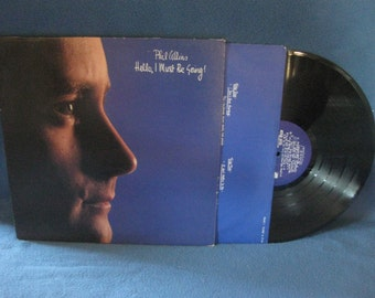 "Vintage, Phil Collins - ""Hello, I Must Be Going"", Vinyl LP Record Album, Original 1982 Press, You Can't Hurry Love, Genesis"