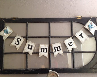 Vintage sheet music Summertime Banner