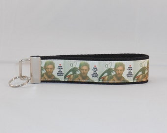 Keychain Wristlet Made With Walking Dead Inspired Ribbon