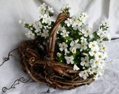 Grapevine Basket Grapevine Flower Girl Basket Rustic Wedding Decor Gathering Basket Floral Planter Made In Michigan by colonialcraft on Etsy
