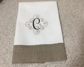 Guest towel 2 color Monogram