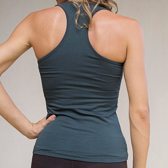 ON SALE!  40% OFF - Racerback Yoga Tank with Bra Support - Yoga Clothes