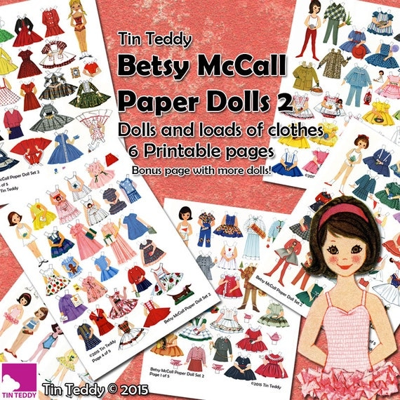 Tin Teddy Betsy McCall Paper Dolls 2