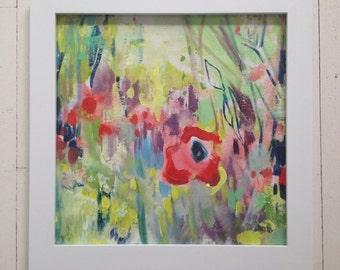 Poppy Honey 2-- The original art in frame