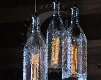 Seagrams Gin Bottle Chandelier