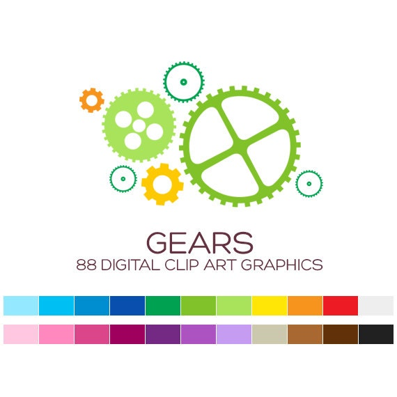 Gears Digital Clip Art Construction Clipart Tools