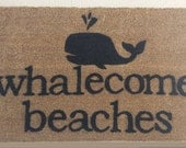 Whalecome Beaches Doormat