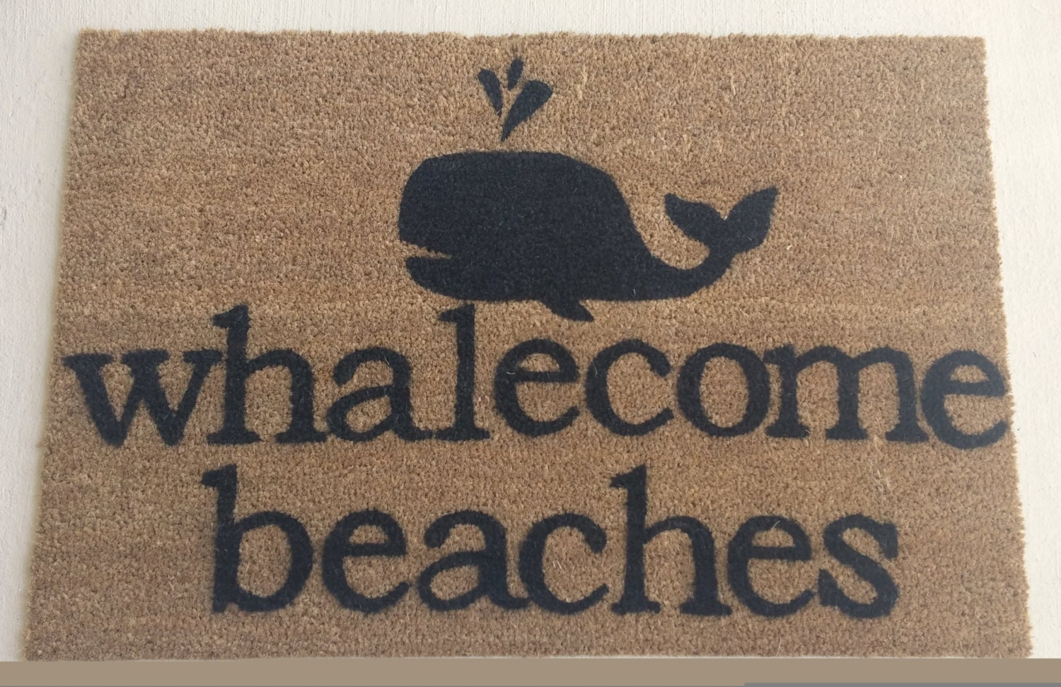 Whalecome Beaches Doormat By Justsmilealways On Etsy