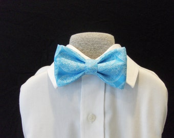 Bow tie blue Paisley kids baby children bowties Brookes & Company