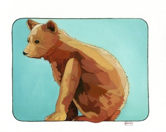 Mission Bear, Giclee print, bear, 8 by 10, Mahosky