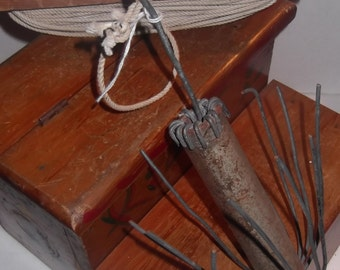 Folk Art, grappling hook and wedge, great patina, condition, a wonderful collectable