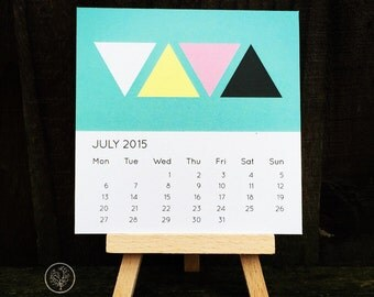 Mini Desk Calendar - Geometric Pastel