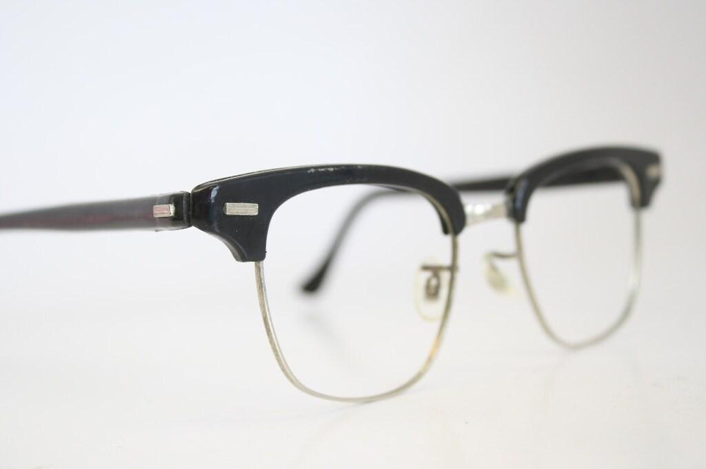 Black Browline 1950s Wire Rim Eyeglasses G Man by ...