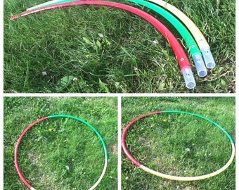 Three Piece Colored Break Down Travel Hoop *3/4in Poly Pro*