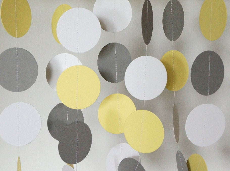 yellow gray white garland yellow gray wedding decoration birthday party - Yellow Decor