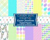 Easter Paper, Easter Digital, Easter Digital Paper, Easter Scrapbook, Easter Digital Scrapbook - Commercial Use OK