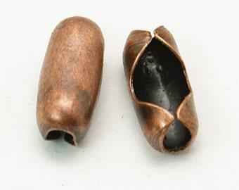 50pc antique copper finish 4-4.5mm ball chain connectors-9841