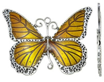 1pc antique silver with Enamel Butterfly Pendant-2301C