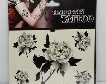 1pc flower pattern temporary tattoo sticker-10078