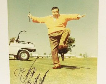 Jackie Gleason Autographed Color Photograph - Golf