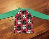 Dark side, size 3 long sleeved t-shirt