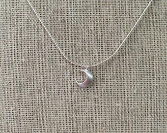Luna necklace, silver